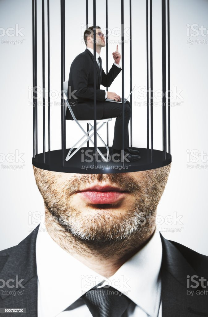 Prison headed executive - Royalty-free Abstract Stock Photo