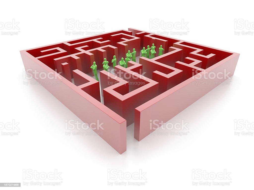 Prison Labyrinth royalty-free stock photo