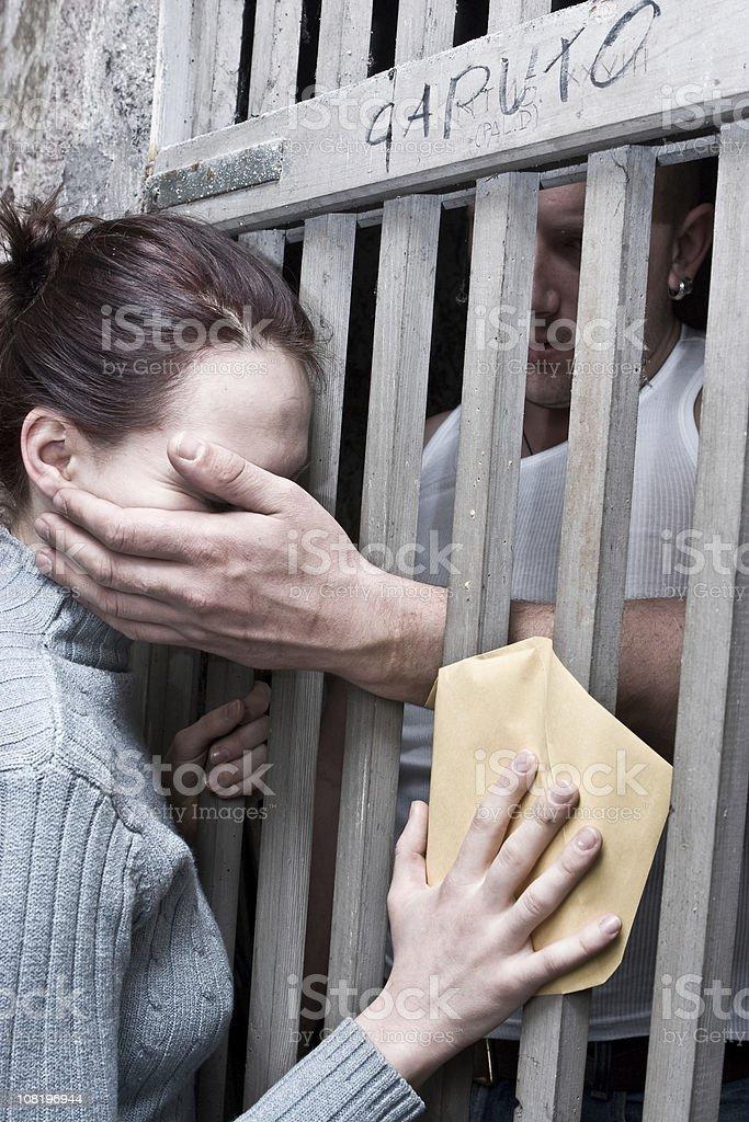Prison visit royalty-free stock photo