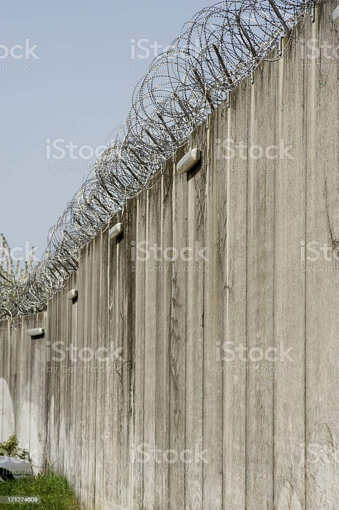 Prison wall royalty-free stock photo