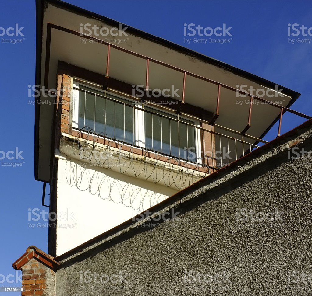 Prison watch tower royalty-free stock photo