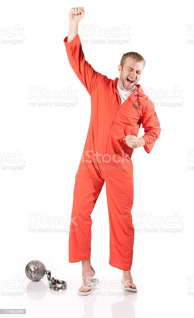 Prisoner Breaking Free stock photo