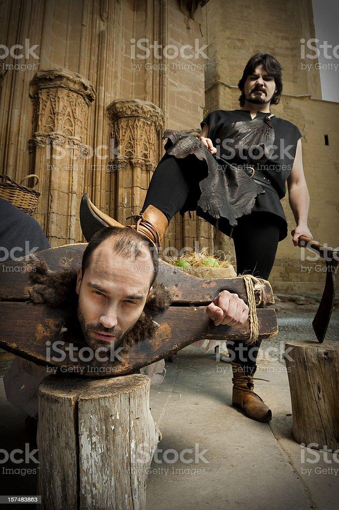 Prisoner execution royalty-free stock photo