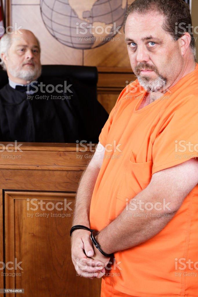Prisoner in Handcuffs royalty-free stock photo