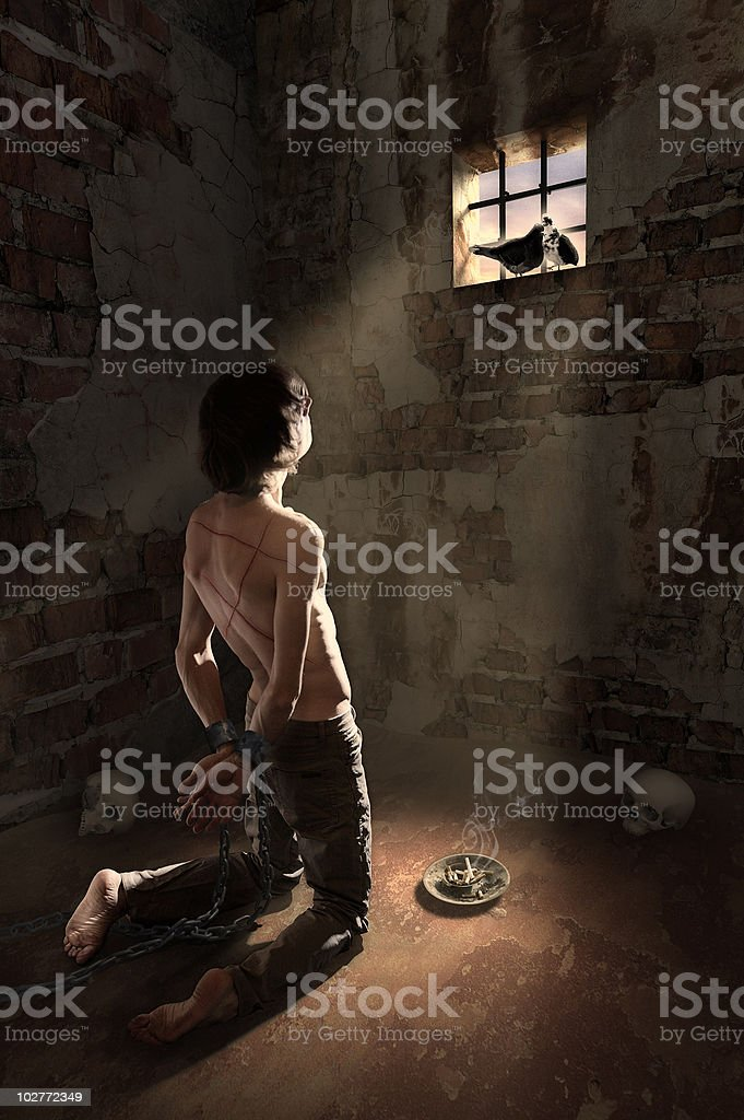 prisoner of habits stock photo