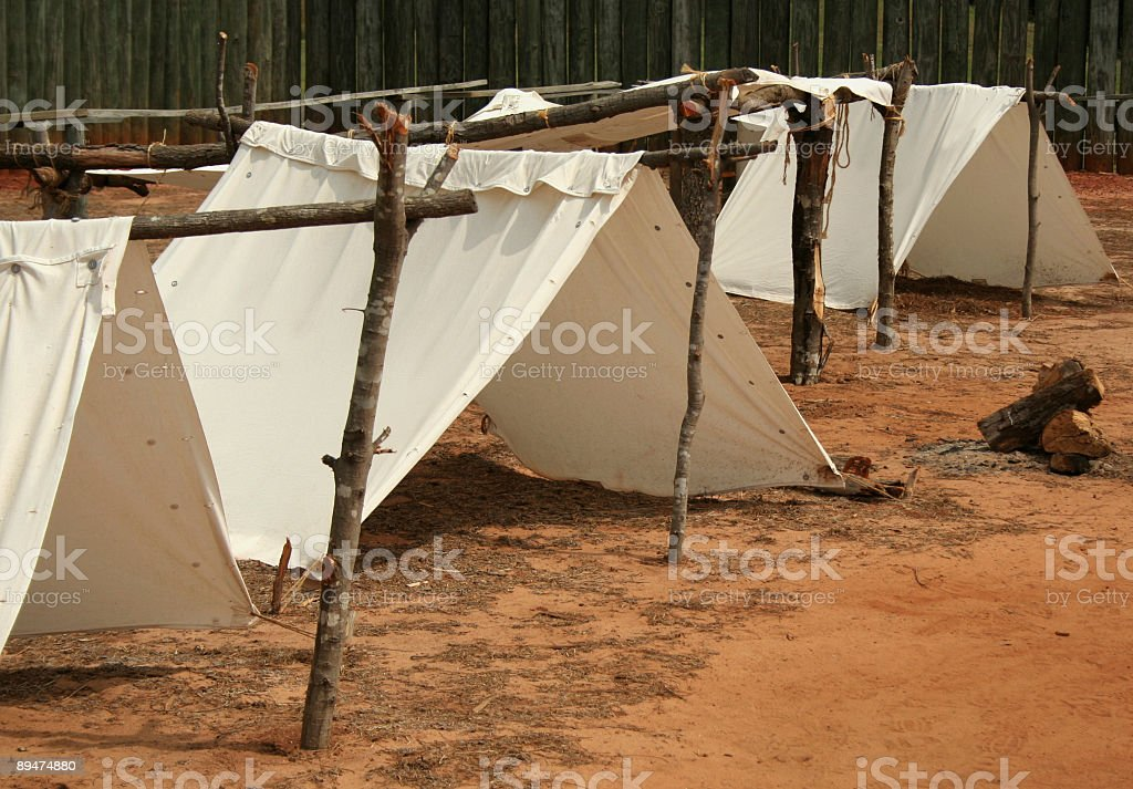 Prisoner of War Tents royalty-free stock photo