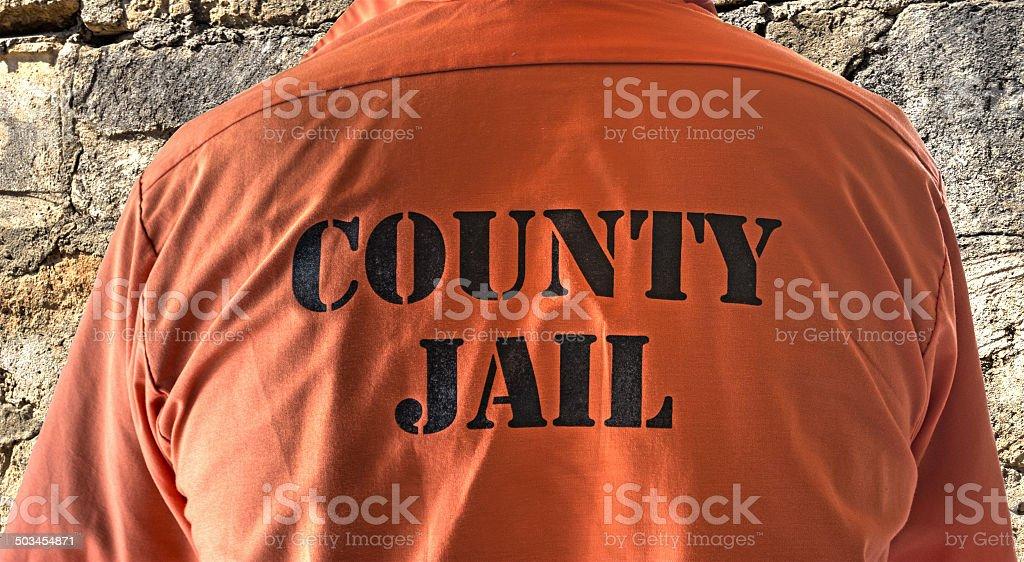 prisoner shirt stock photo