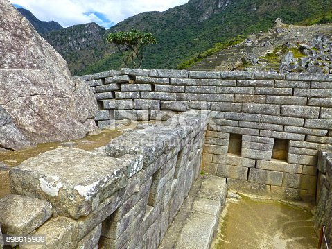Different constructions for prisoners at Machu Picchu, Inca Empire