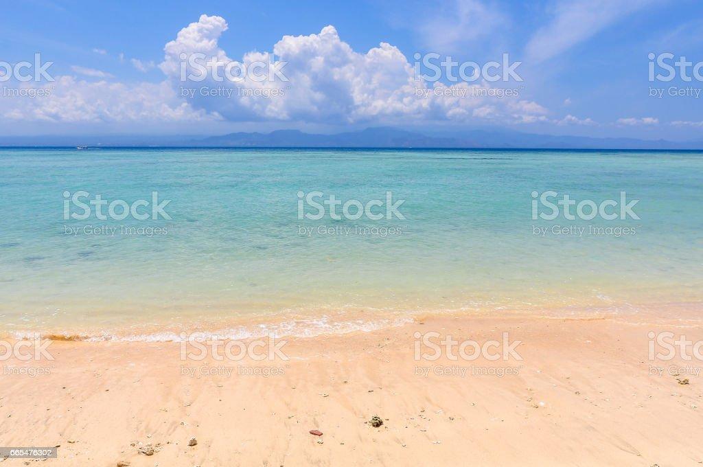Pristine beach on Nusa Lembongan, Indonesia stock photo
