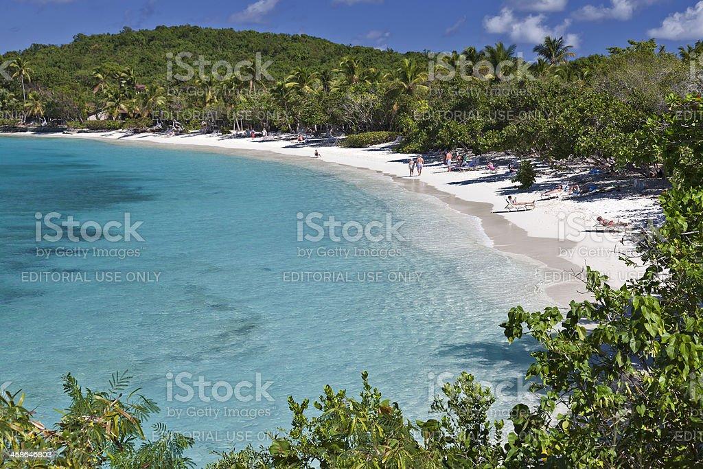 Pristine Beach on Saint John stock photo