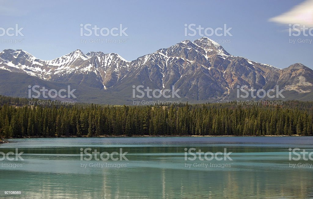 Pristine Blue/Green Mountain Lake royalty-free stock photo