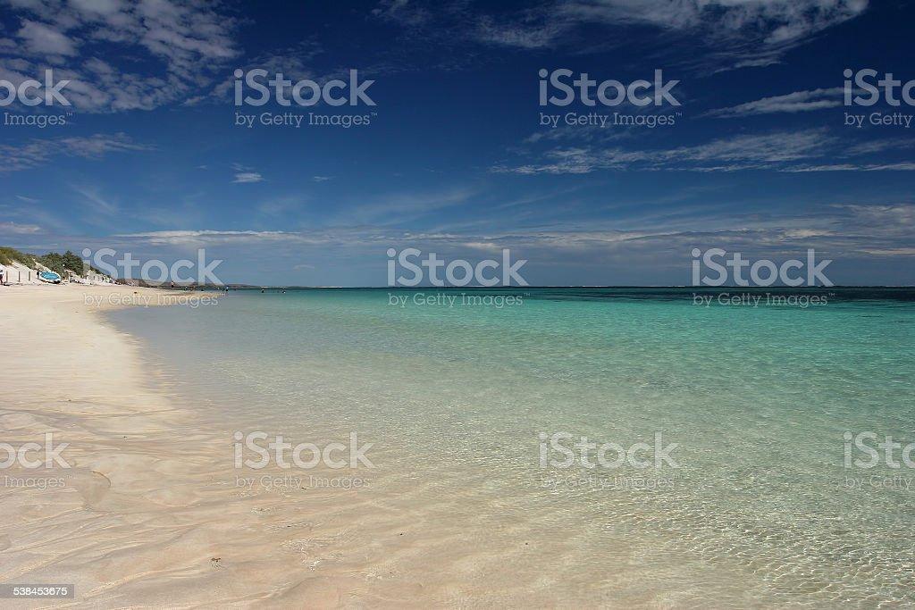 Pristine Exmouth Beach stock photo