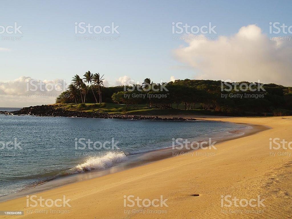 Pristine Molokai Beachscape stock photo