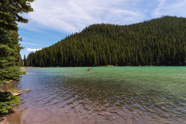 Pristine summer waters of Devil's Lake, Oregon stock photo