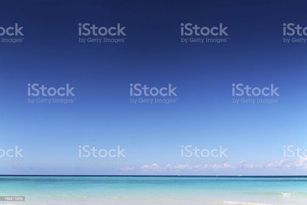 Pristine Tropical Beach royalty-free stock photo