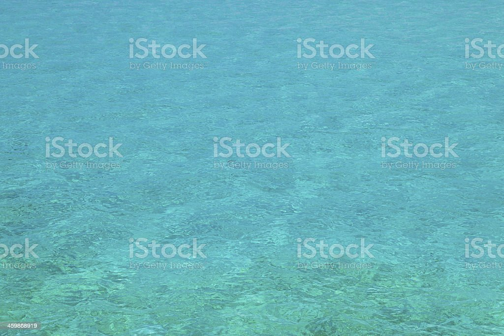 Pristine water on Mabul island, Sipadan, Borneo Malaysia stock photo