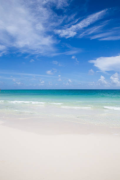 Pristine White Caribbean Beach stock photo