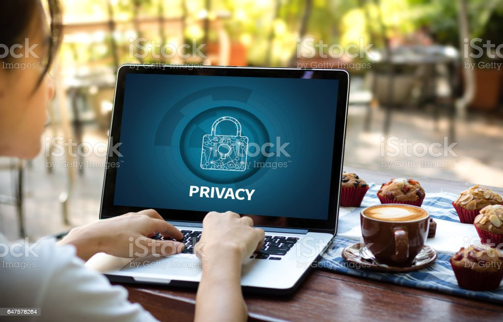 Privacy Access Identification Password Passcode and Privacy stock photo
