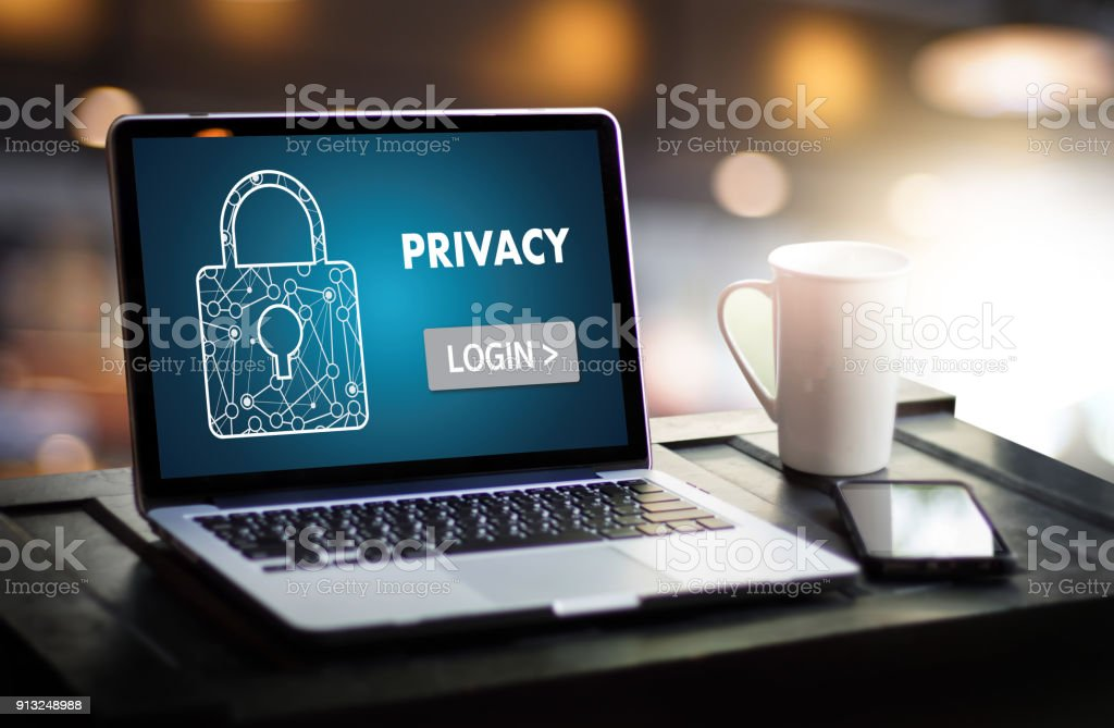 Privacy Access login PERFORMANCE Identification Password Passcode and Privacy stock photo