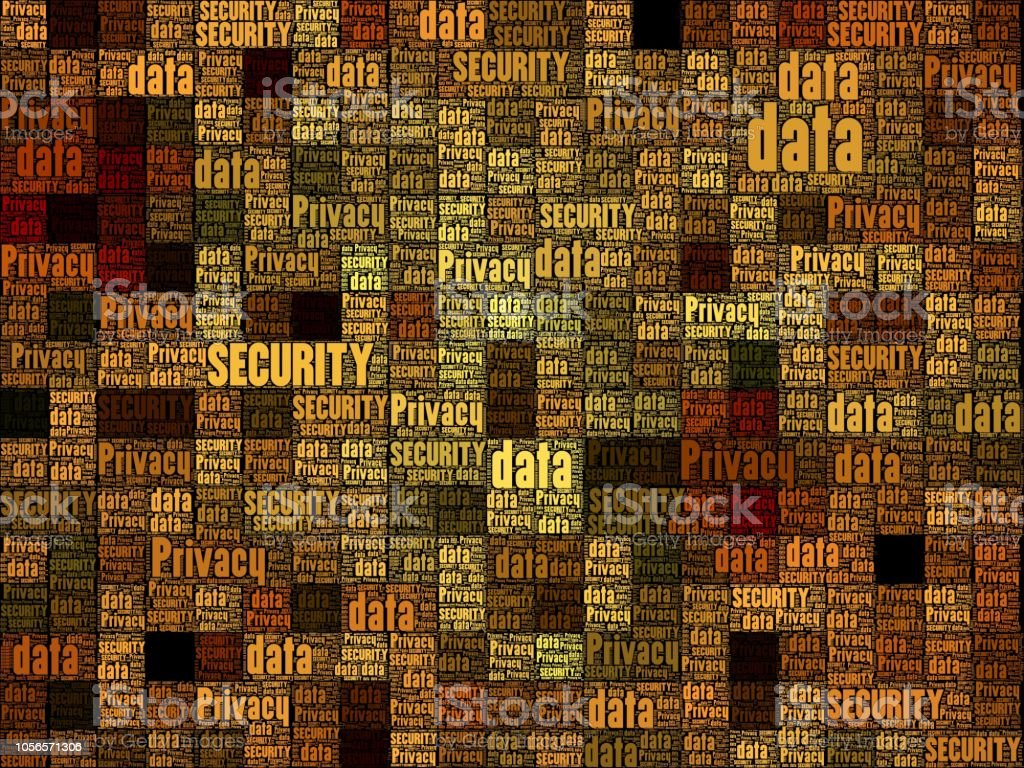 Geometric pattern with random numbers. Conceptual image. Floating...