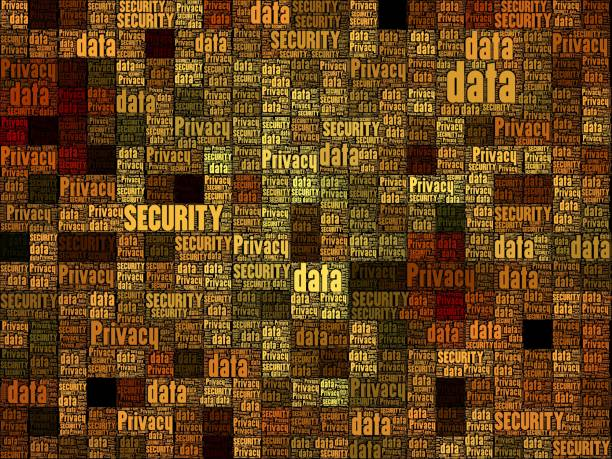 privacy and data security concept over geometric square grid pattern - 8 infographic stock photos and pictures