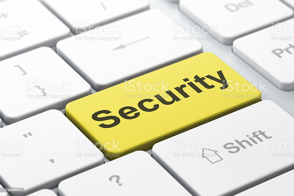 Privacy concept: Security on computer keyboard background royalty-free stock photo