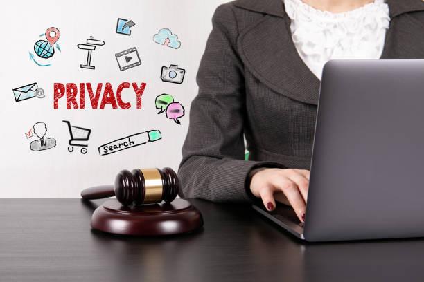 Datenschutz, DSGVO. Allgemeine Datenschutzverordnung. Cyber-Sicherheit und Datenschutz-Konzept – Foto
