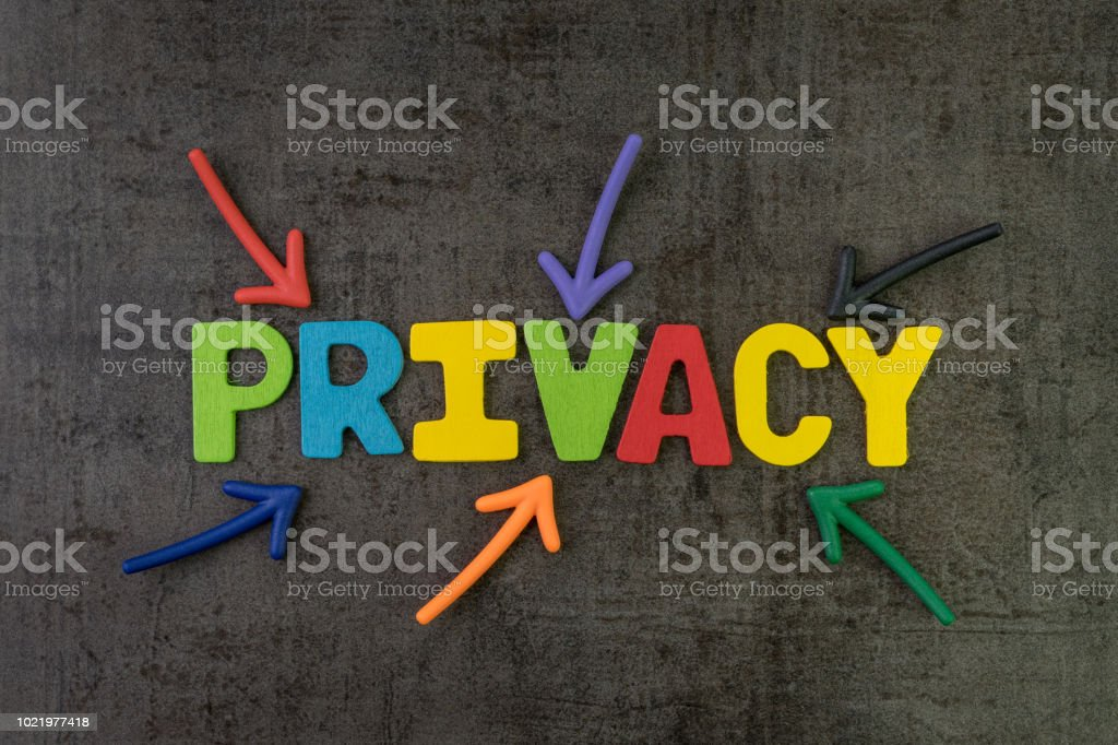 Privacy, GDPR or General Data Protection Regulation concept, colorful...