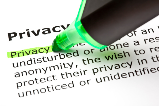 Privacy Highlighted In Green Stock Photo - Download Image Now