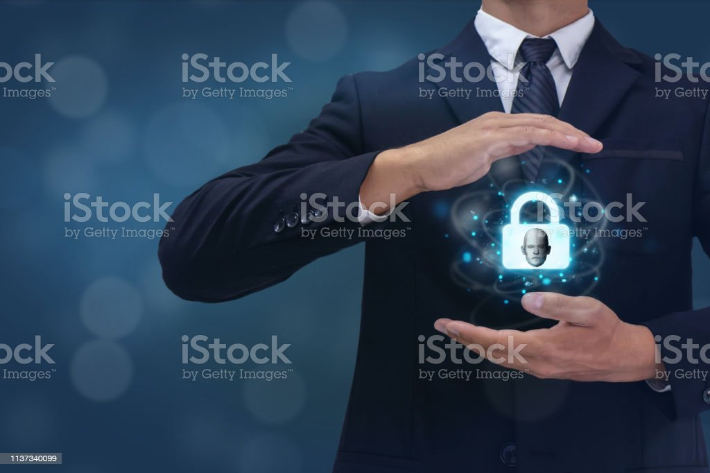 Privacy in electronic communications, business man try to protect...