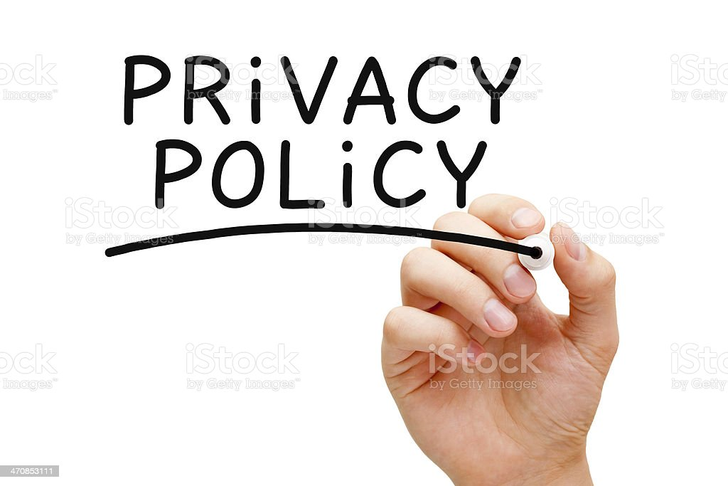 Privacy Policy Black Marker stock photo