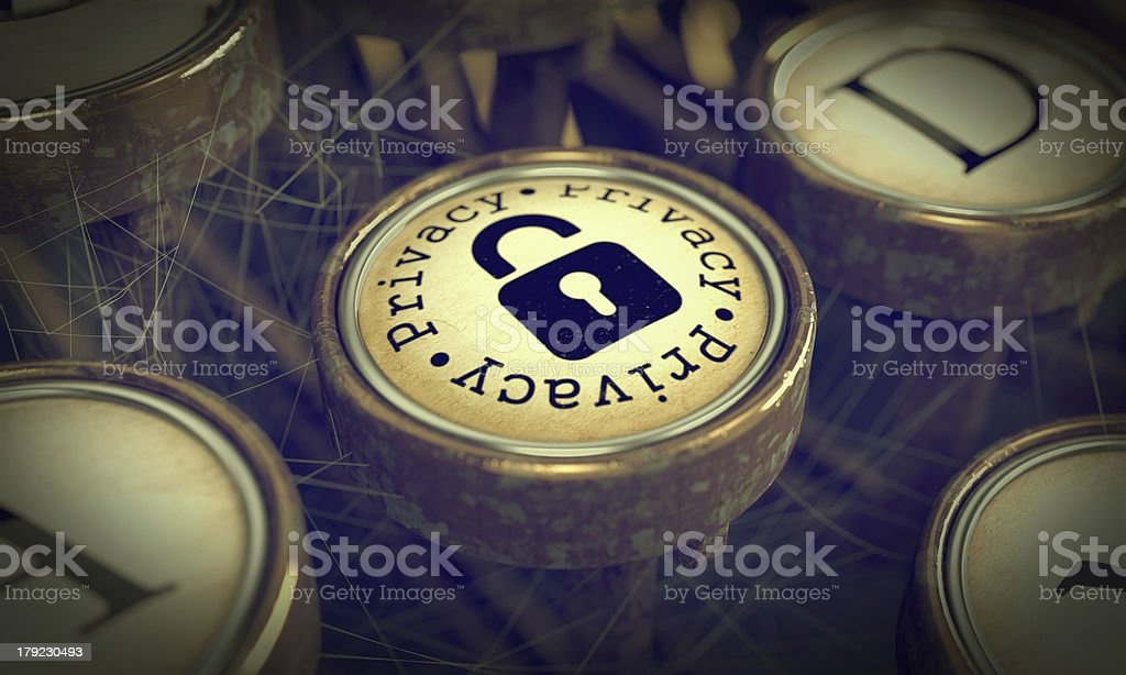 Privacy Typewriter Key. Grunge Background. royalty-free stock photo