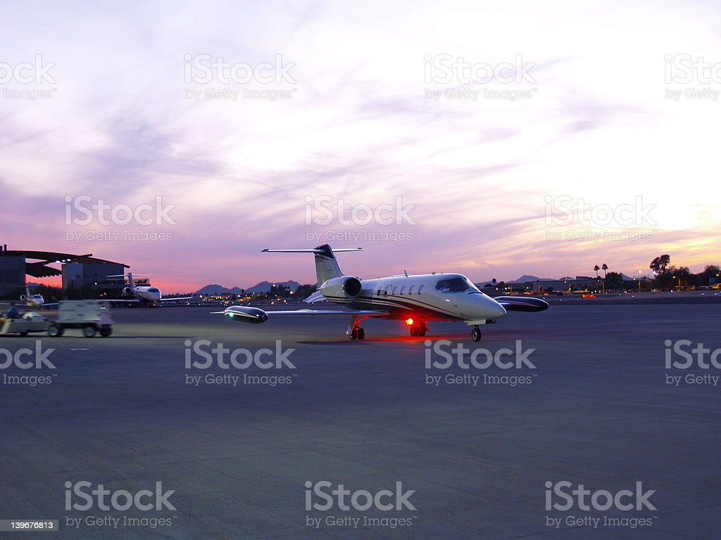 Private aircraft on ramp before take-off. royalty-free stock photo