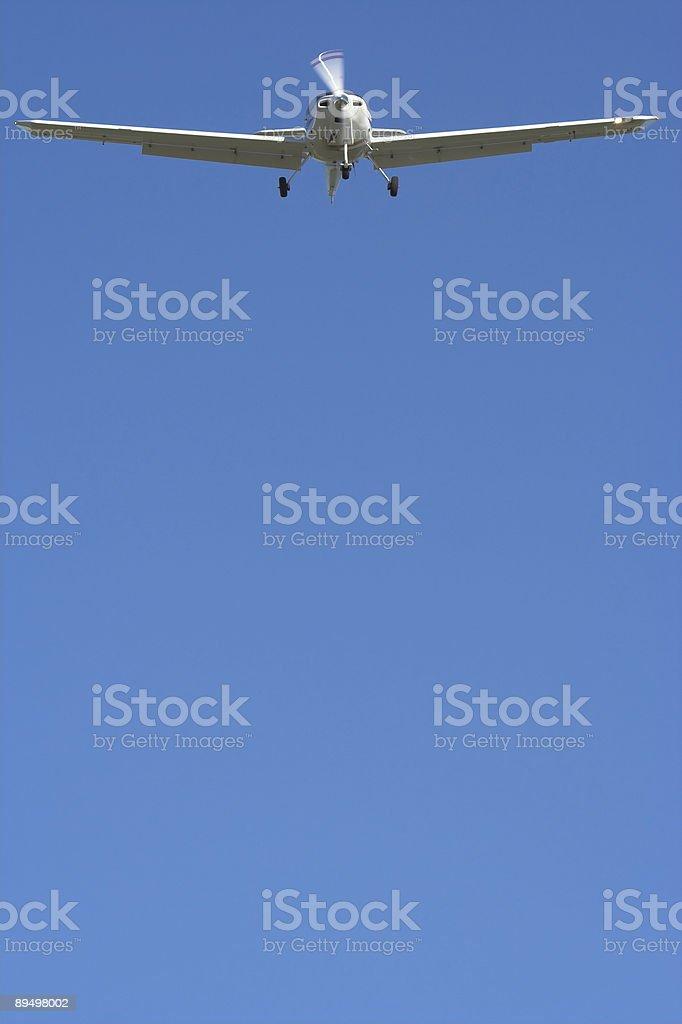Aereo privato con spazio copia foto stock royalty-free