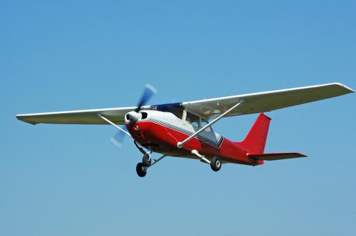 Private four passenger airplane. Cessna 172.