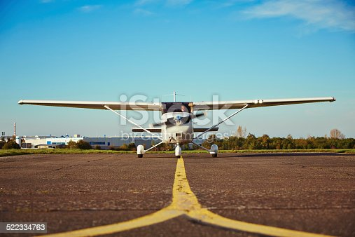 istock Private airplane 522334763