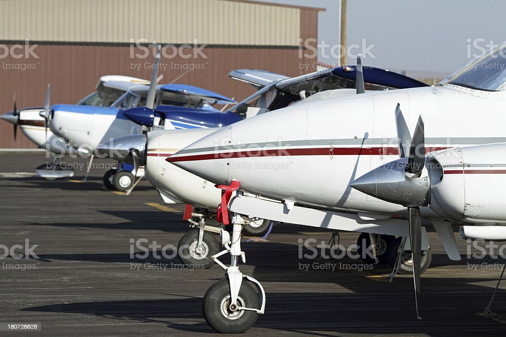 Private Airplanes royalty-free stock photo