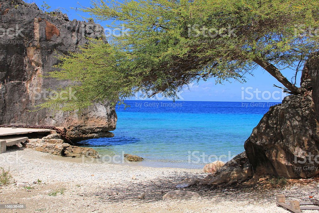 private beach Curacao royalty-free stock photo