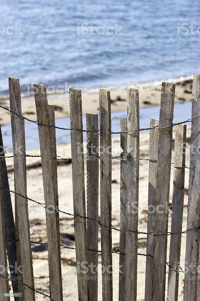 Private Beach Fence royalty-free stock photo