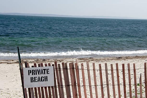 Private beach stock photo
