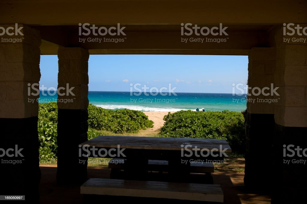 Private beach total seclusion stock photo