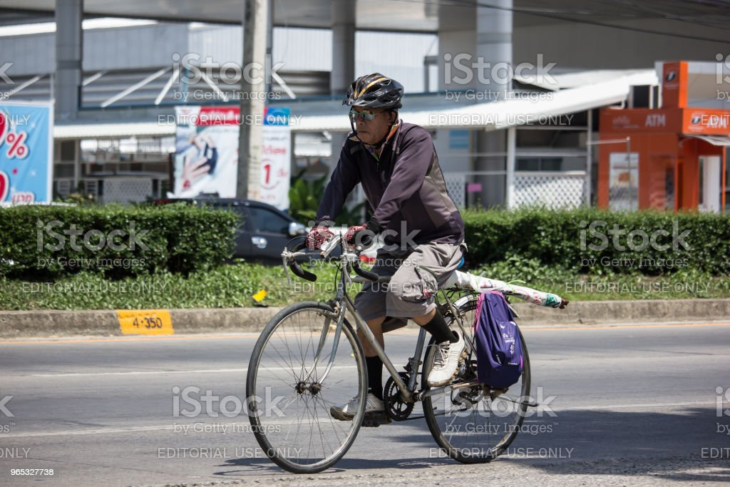 Private Bicycle with  old man royalty-free stock photo