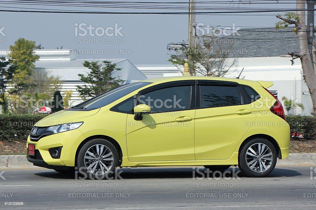 Private car, Honda Jazz. stock photo