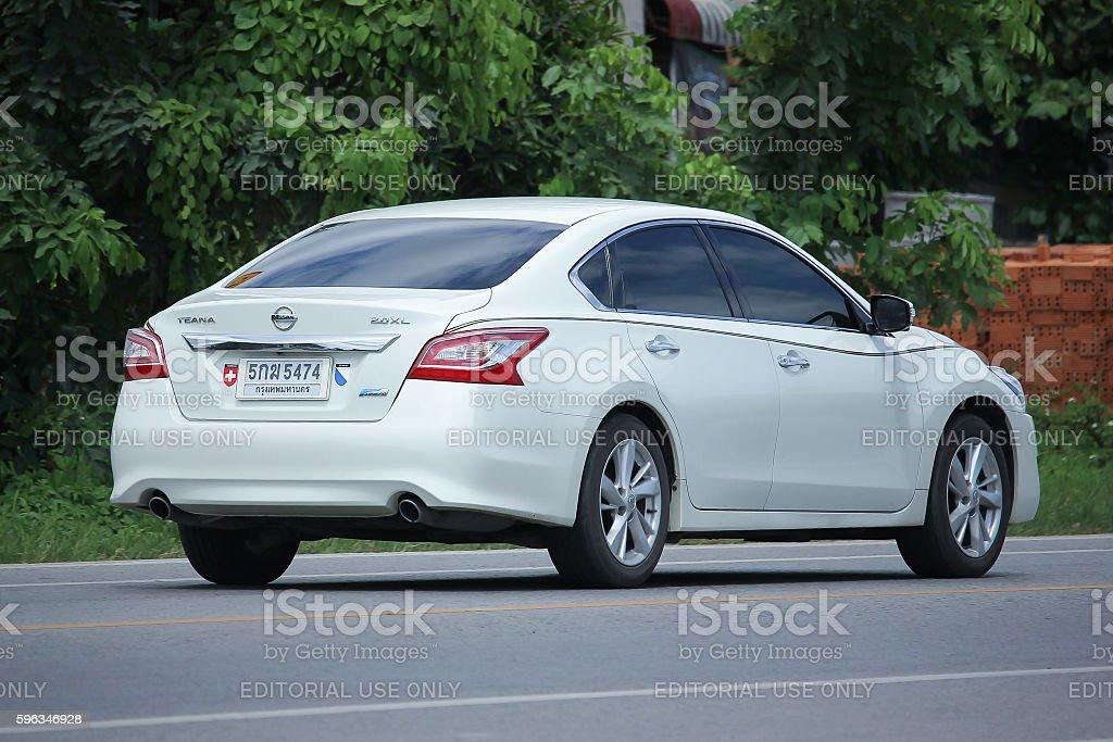 Privatwagen, Nissan Nissan Teana Lizenzfreies stock-foto