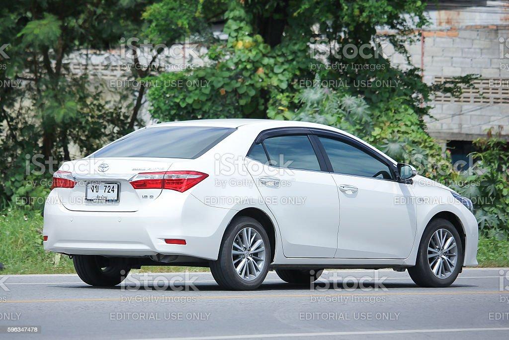Privatwagen, Toyota Corolla Altis. Lizenzfreies stock-foto