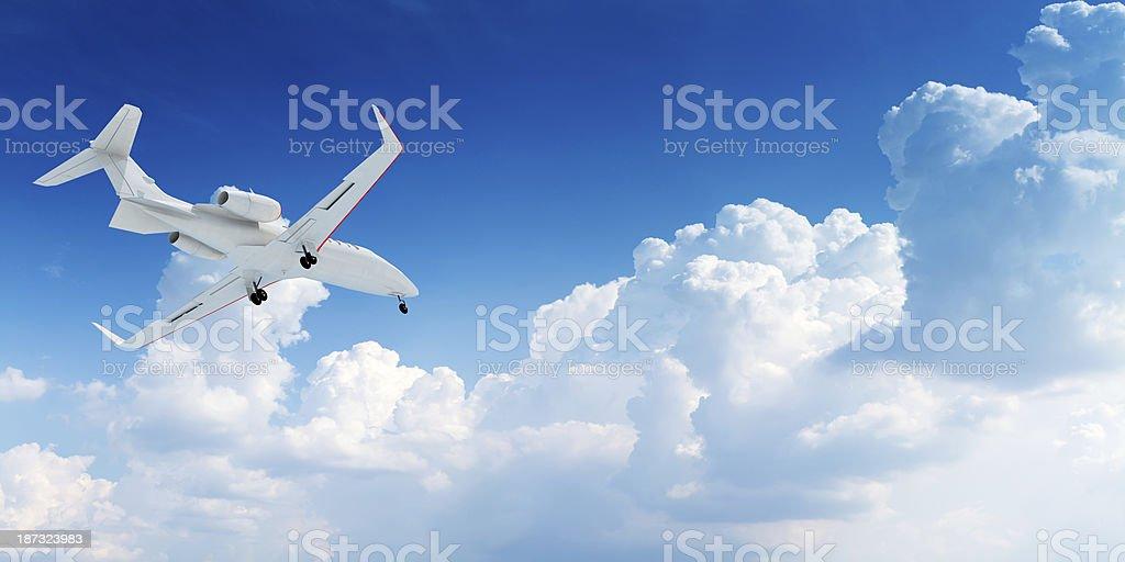 Private corporate jet take-off stock photo