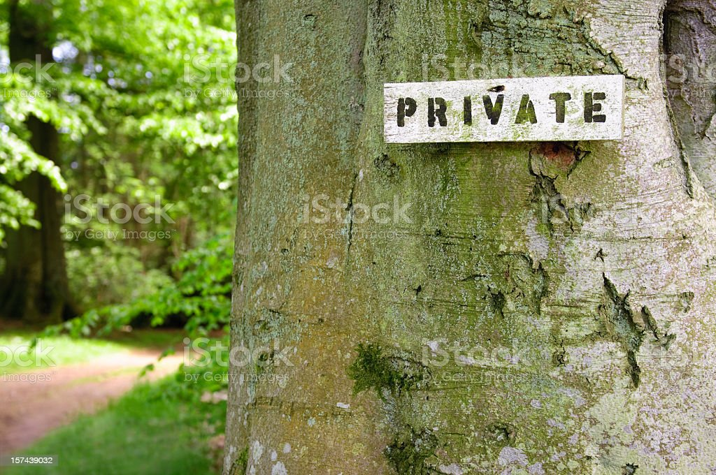 Private Countryside Access stock photo