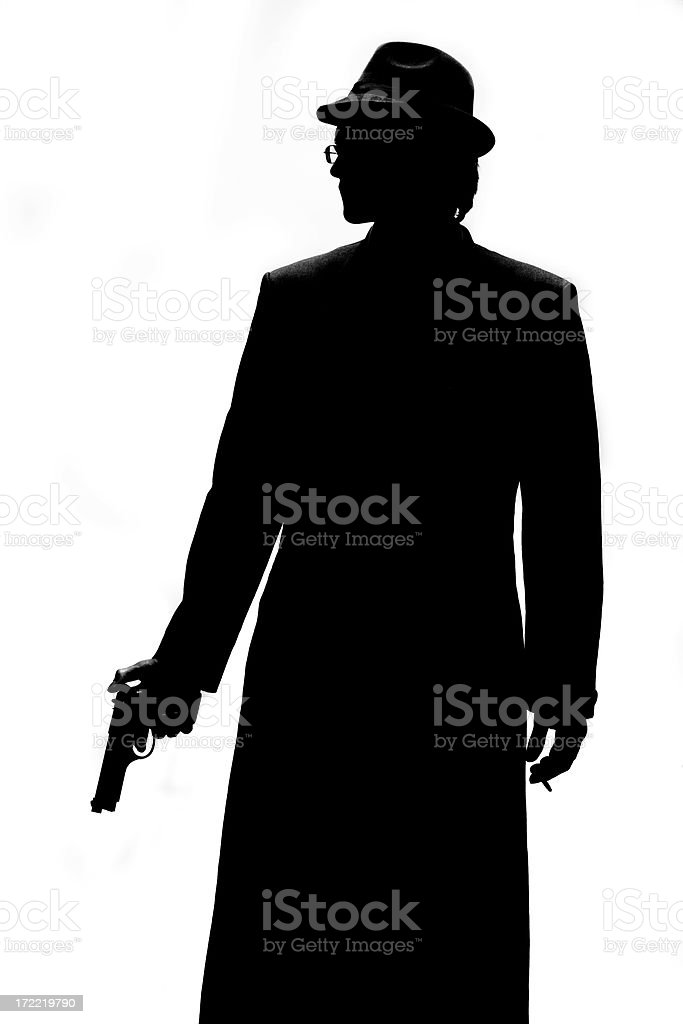 Private Detective or Gangster? royalty-free stock photo
