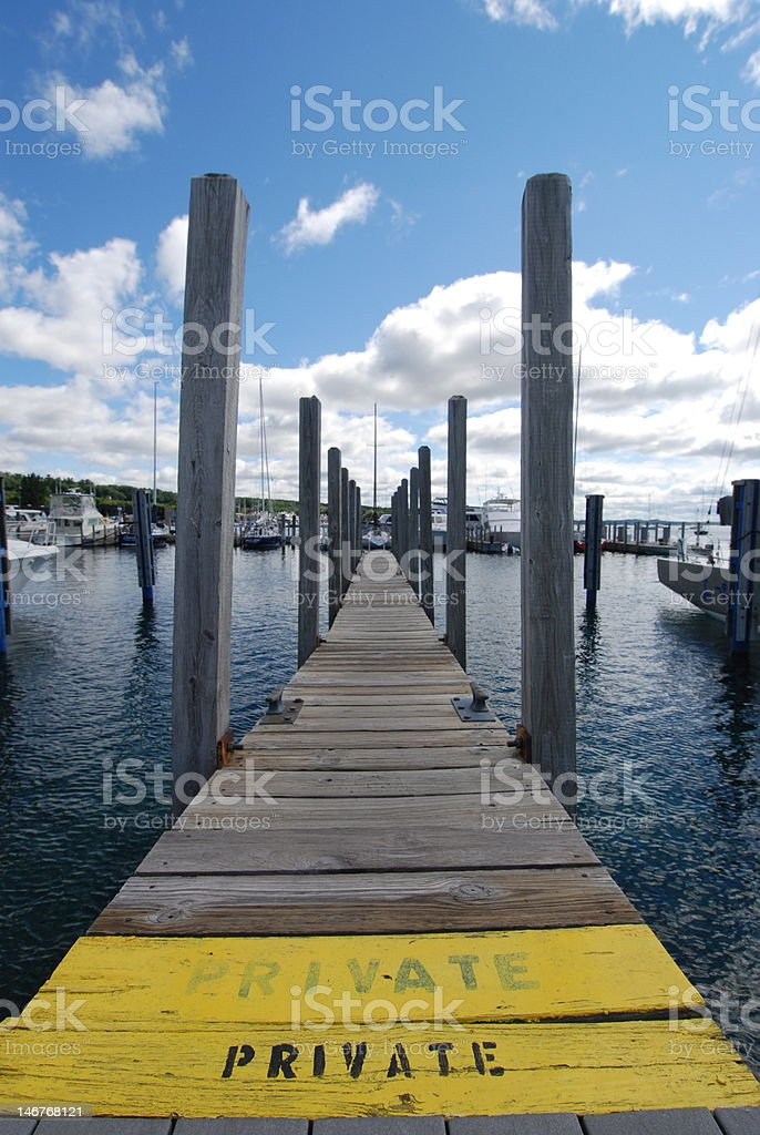 Private Dock royalty-free stock photo