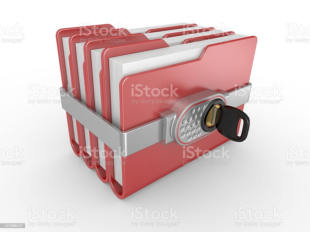 Private documents folder royalty-free stock photo